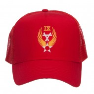Air Force 9th Command Embroidered Mesh Cap - Red