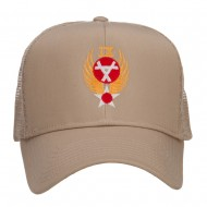 Air Force 9th Command Embroidered Mesh Cap - Khaki