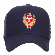 Air Force 9th Command Embroidered Mesh Cap - Navy