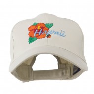 USA State Flower Hawaii hibiscus Embroidery Cap - Stone