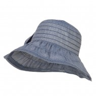 Women's Ribbon Accent Crushable Hat - Blue
