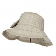 Women's Ribbon Accent Crushable Hat - Sage