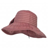 Women's Ribbon Accent Crushable Hat - Wine