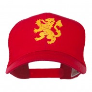 Heraldic Lion Embroidered Cap - Red