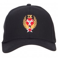 Air Force 9th Command Embroidered Cap - Black
