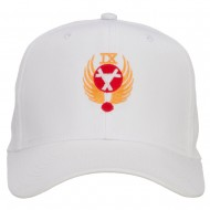 Air Force 9th Command Embroidered Cap - White