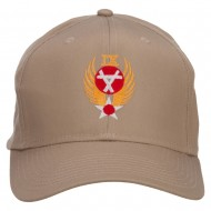 Air Force 9th Command Embroidered Cap - Khaki