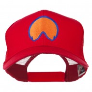 Horse Hoof Mascot Embroidered Mesh Back Cap - Red
