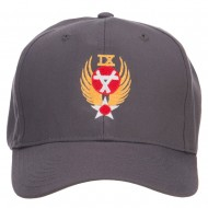 Air Force 9th Command Embroidered Cap - Charcoal