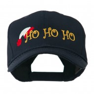 Christmas Ho Ho Ho with Hat Embroidered Cap - Navy