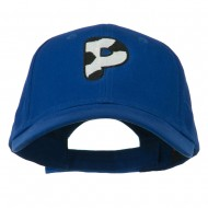 Holstein Alphabet Letter NZ Embroidered Youth Brushed Cap - P