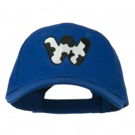 Holstein Alphabet Letter NZ Embroidered Youth Brushed Cap - W