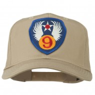 9th Air Force Division Patched Cap - Khaki