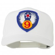 9th Air Force Division Patched Cap - White