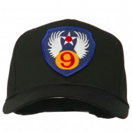 9th Air Force Division Patched Cap - Black