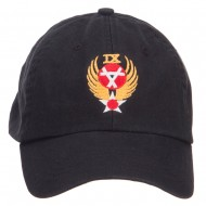 Air Force 9th Command Embroidered Low Cap - Black