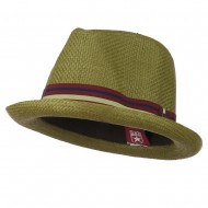 Youth Striped Band Fedora - Brown