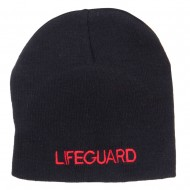 Lifeguard Embroidered Short Beanie - Black