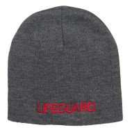 Lifeguard Embroidered Short Beanie - Dk Grey
