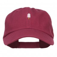 Mini Popsicle Embroidered Low Cap - Wine