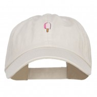 Mini Popsicle Embroidered Low Cap - Putty