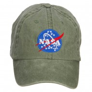 NASA Insignia Embroidered Washed Cap - Olive