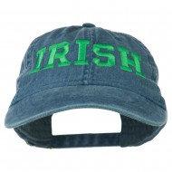 Irish Embroidered Washed Pigment Dyed Cap - Navy