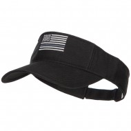 Thin Grey Line American Flag Embroidered Visor - Black