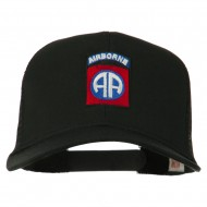 82nd Airborne Embroidered Mesh Cap - Black