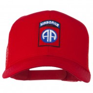 82nd Airborne Embroidered Mesh Cap - Red