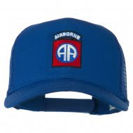 82nd Airborne Embroidered Mesh Cap - Royal