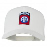 82nd Airborne Embroidered Mesh Cap - White