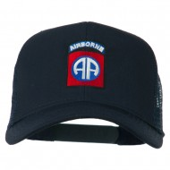 82nd Airborne Embroidered Mesh Cap - Navy