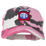 Airborne Embroidered Camouflage Cap - Pink