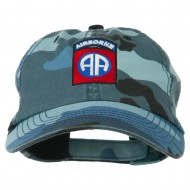 Airborne Embroidered Camouflage Cap - Sky