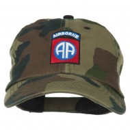 Airborne Embroidered Camouflage Cap - Camo