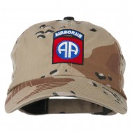 Airborne Embroidered Camouflage Cap - Desert