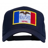 Iowa State Flag Patched Mesh Cap - Navy