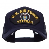 US Air Force Veteran Military Patched Mesh Cap - Navy
