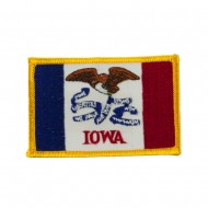 Middle State Embroidered Patches - Iowa