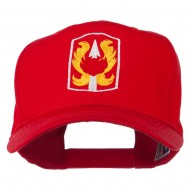 199th Infantry Military Badge Embroidered Cap - Red