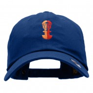 Incan Symbol Embroidered Unstructured Cotton Twill Cap - Royal