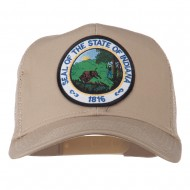 Indiana State Patched Mesh Cap - Khaki