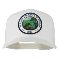 Indiana State Patched Mesh Cap - White