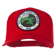 Indiana State Patched Mesh Cap - Red