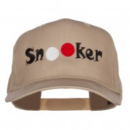 Billiard Snooker Balls Embroidered Twill Cap - Khaki