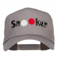 Billiard Snooker Balls Embroidered Twill Cap - Grey
