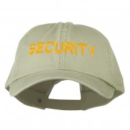Security Letter Embroidered Big Size Washed Cap - Putty