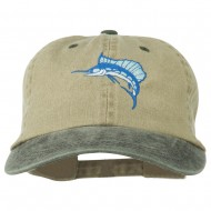 Sailfish Embroidered Two Toned Washed Cap - Beige Brown