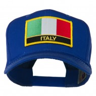 Italy Flag Patched Twill Pro Style Cap - Royal